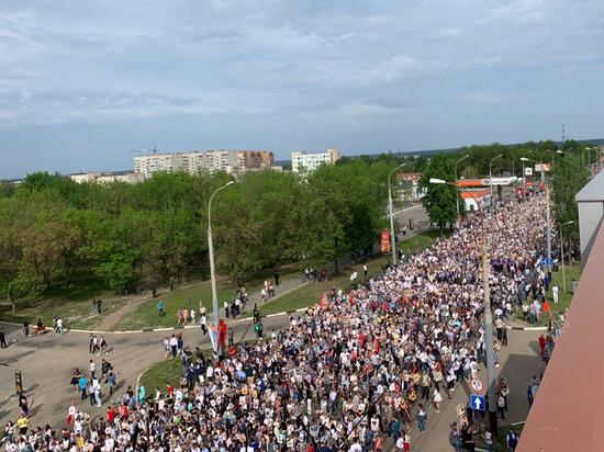 170 тысяч жителей Тамбовской области прошли в колонне «Бессмертного полка»