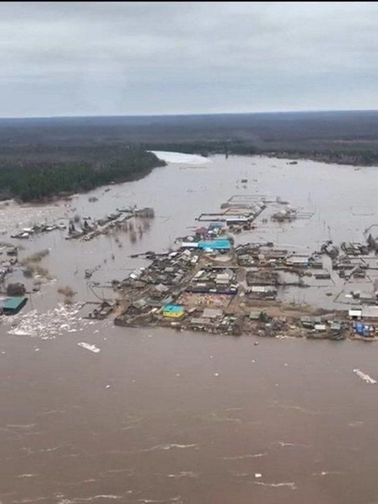 Нижняя Тунгуска продолжает подтапливать село Преображенка