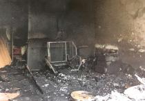 Опубликовано фото места гибели мужчин на пожаре в Тверской области