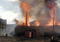 Частная пилорама горела в Зиме