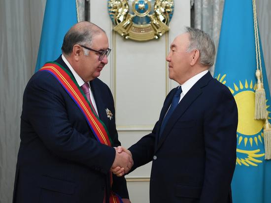 Назарбаев наградил Алишера Усманова орденом Дружбы