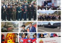 Алексей Дюмин принял Парад Победы в военной форме.