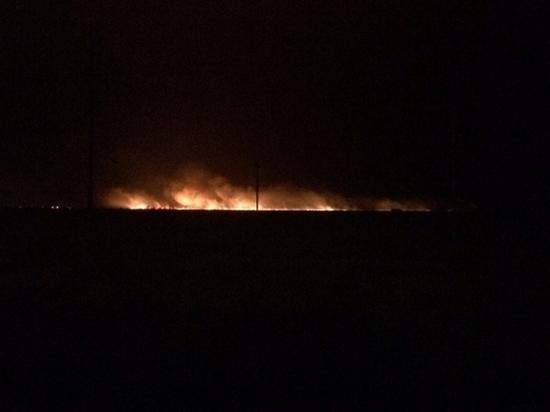 В Волгограде ветер не дает потушить пожар на улице Чайковского