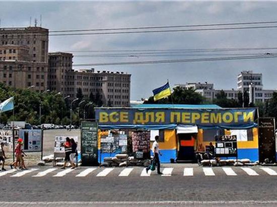 Власти Харькова потребовали снести палатку в честь погибших украинских солдат