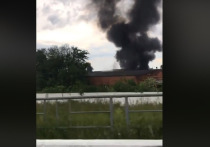 В Яблоновском горели склады рыбзавода