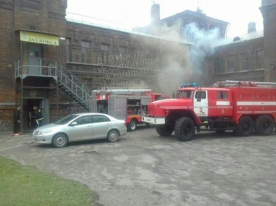 Из-за пожара в Иркутском техникуме машиностроения эвакуировали 150 человек