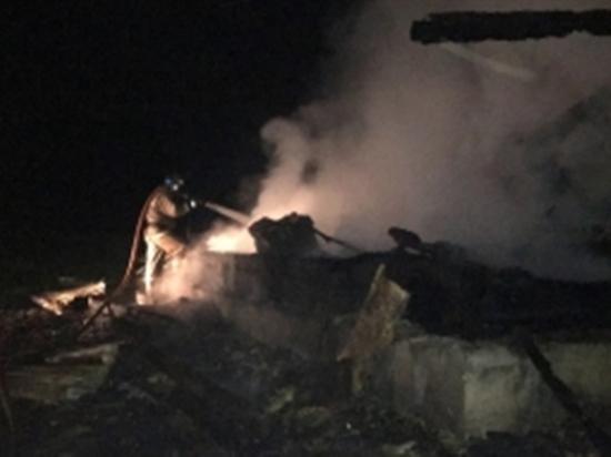 Жилой дом сгорел под Калугой