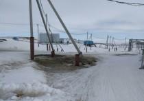 Пьяный водитель снегохода врезался в столб на Ямале
