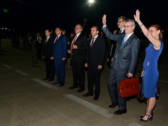 Вениамин Кондратьев встретил в сочинском аэропорту президента Австрии