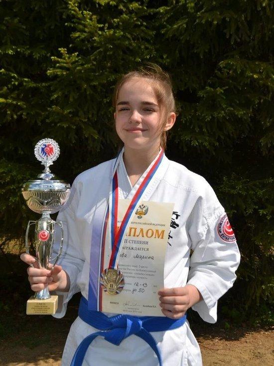 Второе место завоевала представительница Кинешмы на соревнованиях по кёкусинкай