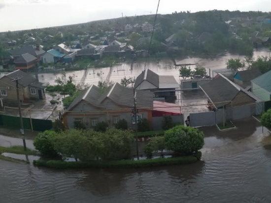 Под Воронежем райцентр ушел под воду