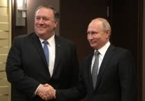 В США отметили «сардонический троллинг» Путина на встрече с Помпео