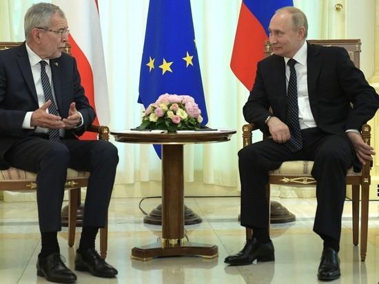 Президент Австрии пригласил Путина в Зальцбург