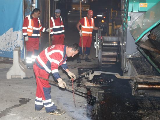 Ямочный ремонт в Нижнем Новгороде выполняют ночью