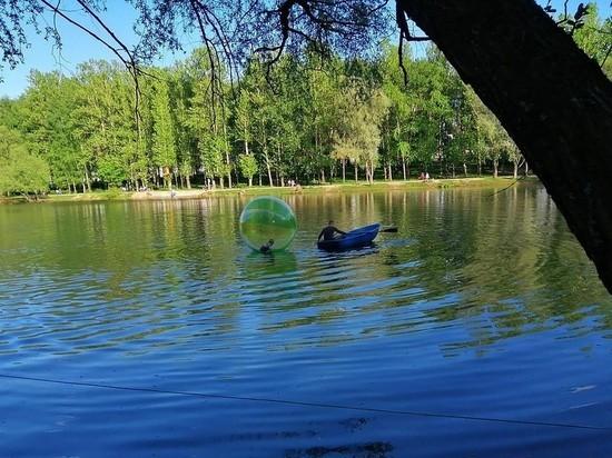 В Ярославле двухлетний малыш уплыл в центр пруда на шаре