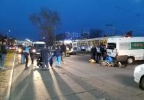 В Улан-Удэ произошло ДТП с участием мотоциклиста и микроавтобуса