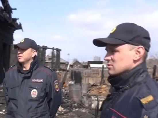 Троих взрослых и ребёнка спасли из горящего дома в Мегете полицейские