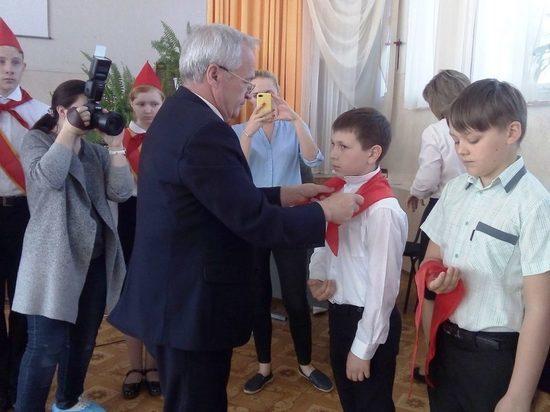 В Ярославле состоялся прием в пионеры