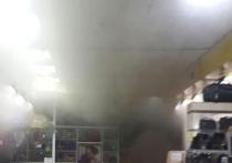 В Ангарске горел ТЦ «Гефест»