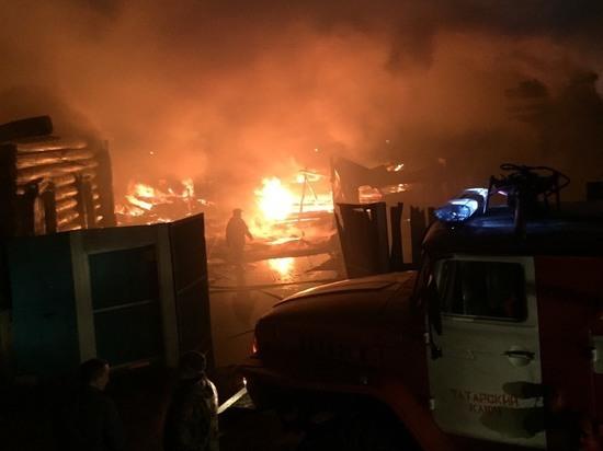 В селе в Бурятии сгорели два дома-соседа