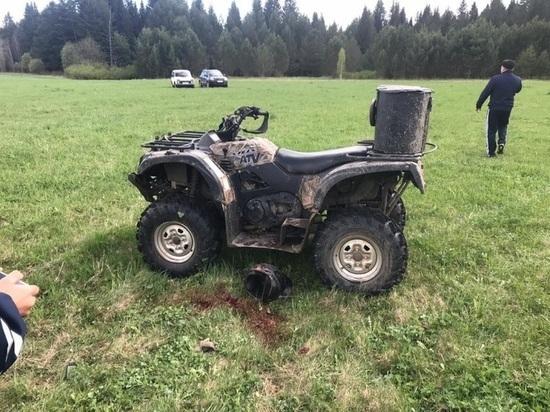 В Свердловской области погиб мальчик, перевернувшись на квадроцикле