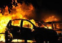 В Туле сгорели четыре автомобиля