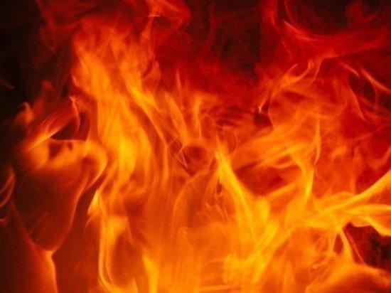 Hyundai Solaris полностью сгорел рядом с ГИБДД в Салехарде
