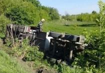 Водителю опрокинувшейся под Тулой автоцистерны стало плохо за рулем
