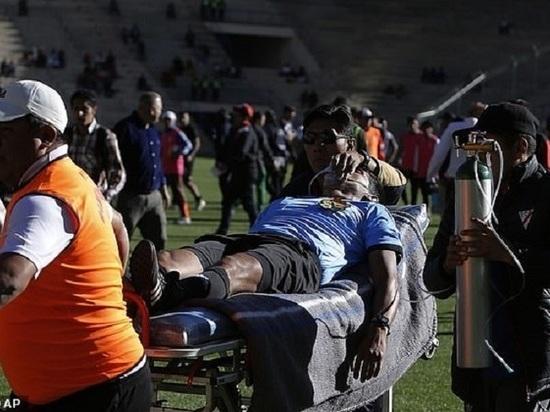 Появилось видео гибели футбольного судьи во время матча