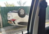 В Туле Nissan X-TRAIL перевернулся в результате ДТП со скорой помощью