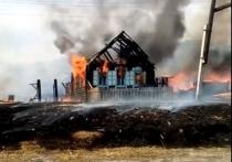 Два дома и постройки сгорели из-за поджога травы в Забайкалье