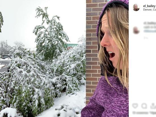 Столицу Колорадо накрыл сильнейший снегопад за 44 года