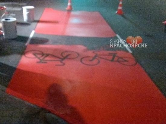 На проспекте Мира появилась велодорожка