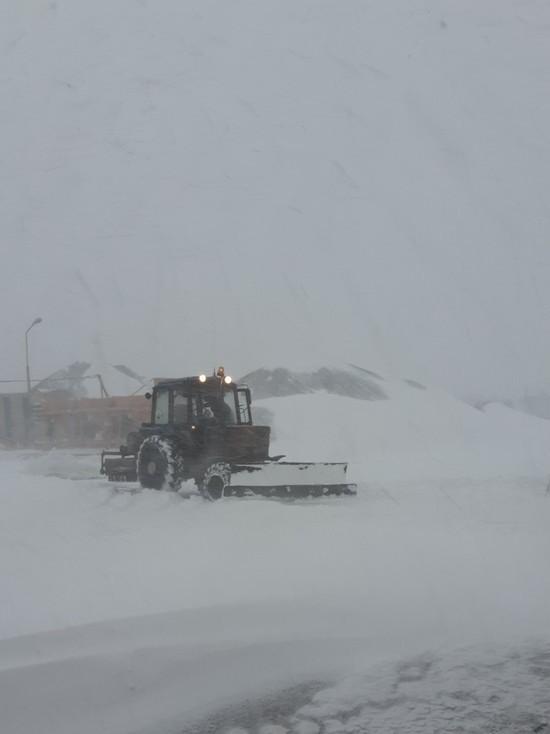 Салехард завалило майским снегом