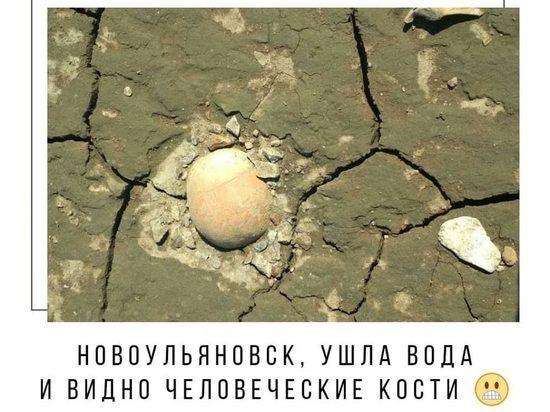 Человеческие кости нашли на ульяновском берегу из-за обмелевшей Волги
