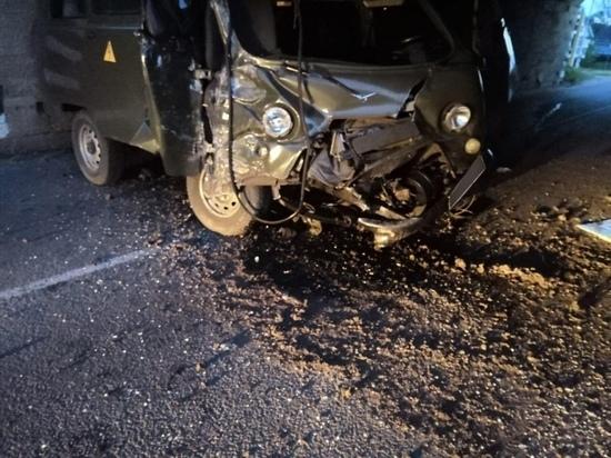 УМВД: водитель, врезавшийся в опору моста в Скопине, был пьян