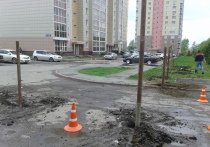 Кемеровчан удивило строительство нового магазина в их дворе