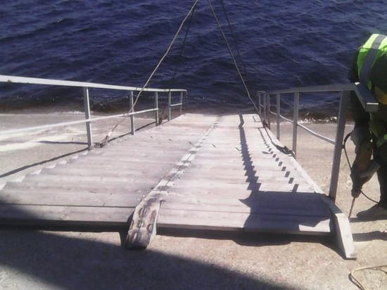 Лестницы на Центральном пляже Ульяновска удлинили до Волги