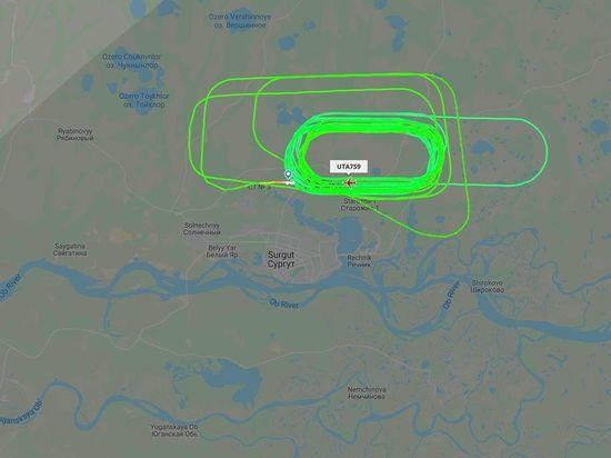 Вылетевший из Сургута Boeing 737 два часа кружит и вырабатывает топливо