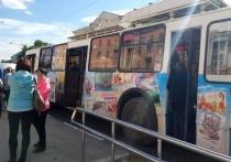 В День города в Иванове курсировал экскурсионный троллейбус
