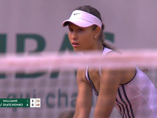 Дьяченко выиграла у Серены Уильямс первый сет, но проиграла в итоге