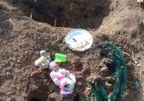 В Новокузнецке неизвестные раскопали могилы детей