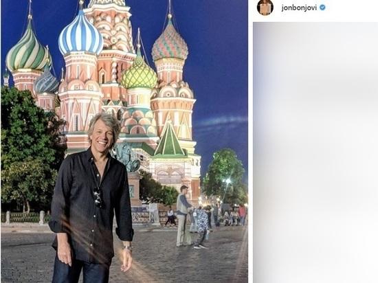 Джон Бон Джови в Москве: группа прогулялась по Красной площади