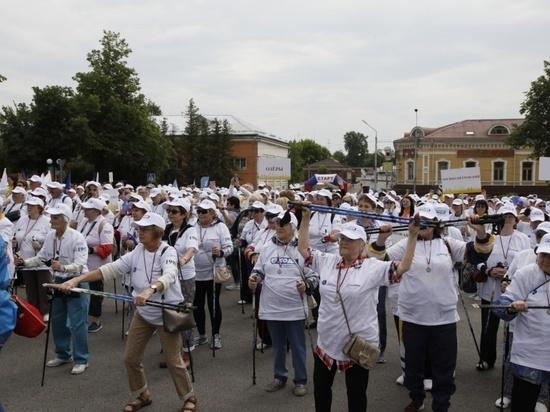В Серпухове побит рекорд! В фестивале по скандинавской ходьбе приняли участие 2550 человек