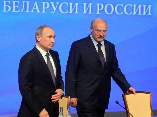 Кремль: Путин и Лукашенко договорились проработать интеграцию России и Белоруссии
