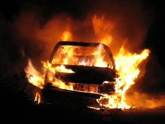В Тверской области сгорела машина с водителем внутри