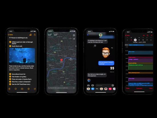 В Apple показали темную версию iOS 13