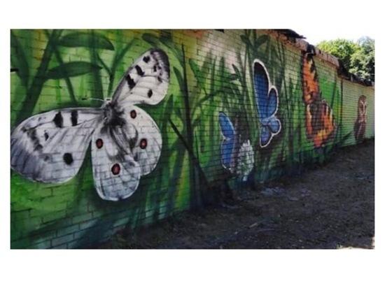 В Серпухове художники продолжают работать над созданием нового граффити