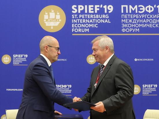 На ПМЭФ губернатор Ростовской области Василий Голубев подписал инвестсоглашений на 187,5 млрд рублей
