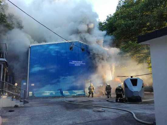 В Новороссийске произошёл крупный пожар в морском университете